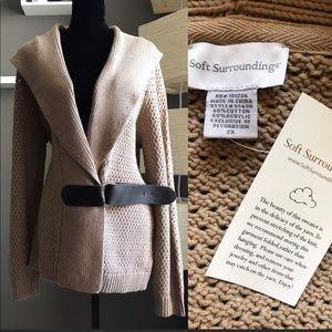 NWT Soft Surroundings Khaki Sweater Size 2X or 22